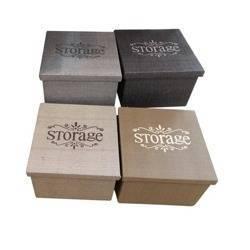 Pudełko organizer brązowy 27 x 27 x 20