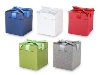 Pudełko ozdobne na prezent z kokardką 10x9x9