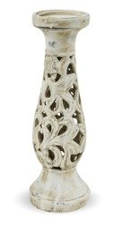 Świecznik Ceramiczny Imitacja Kamienia H:34cm