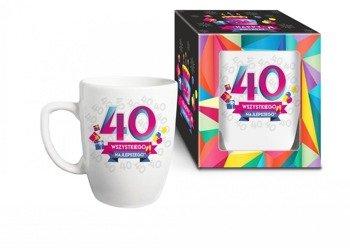 Urodzinowa geometria kubek 40 lat