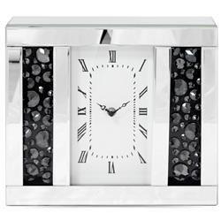 Zegar ścienny ozdobny klasyczny szkło 27,5x30x8 cm