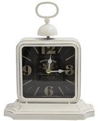 Zegar stojący ozdobny stylowy biały czarny