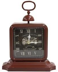 Zegar stojący ozdobny stylowy brązowy czarny