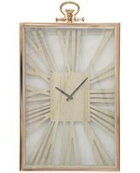 Zegar wiszący ozdobny stylowy kwadratowy prosty