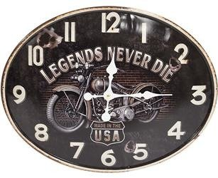 Zegar wiszący ozdobny stylowy legends never die