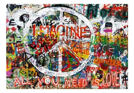 Fototapeta - Hippisowskie graffiti