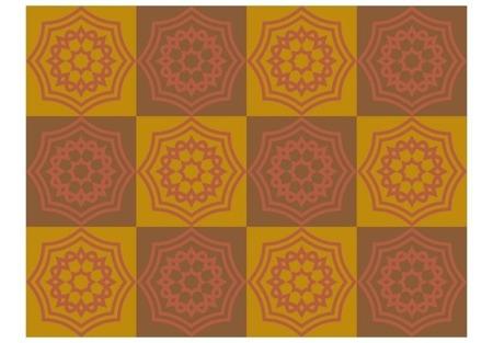 Fototapeta - Ornamenty w odcieniach brązu