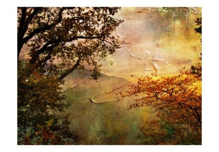 Fototapeta - Painted autumn