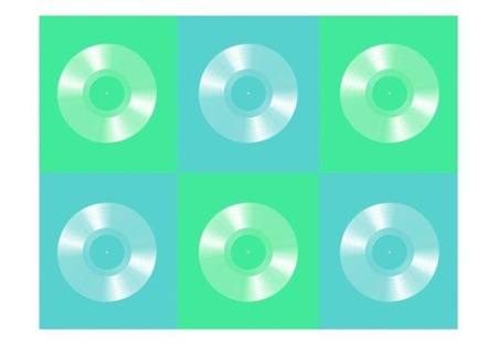 Fototapeta - Pastel vinyls