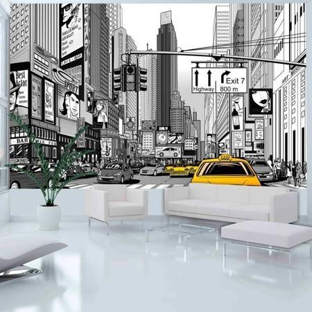 Fototapeta - Żółte taksówki - Nowy Jork