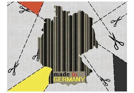 Fototapeta - mapa - Niemcy (kod kreskowy)