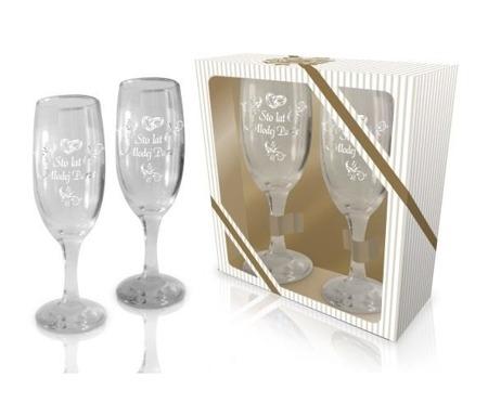 Kieliszki do szampana 100 lat młodej parze 2 szt
