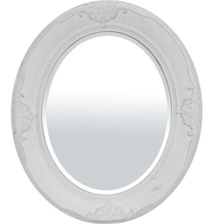 Stylowa Rama lustro biały