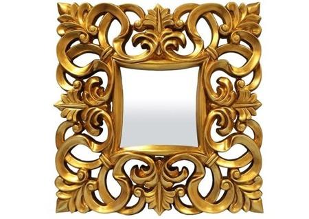 Lustro złota rama 79x79x7 CM