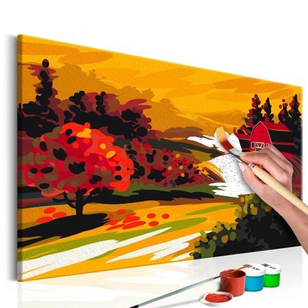 Obraz do samodzielnego malowania - Jesienny krajobraz