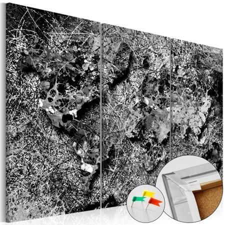 Obraz na korku - Szara nić [Mapa korkowa]