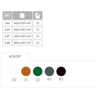 Skrzynka balkonowa Bratek 60 Kolor ceglasty
