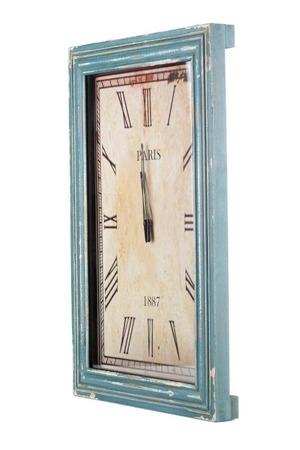 Zegar prostokątny MAZINE Aluro 40cm x 60cm x 5cm